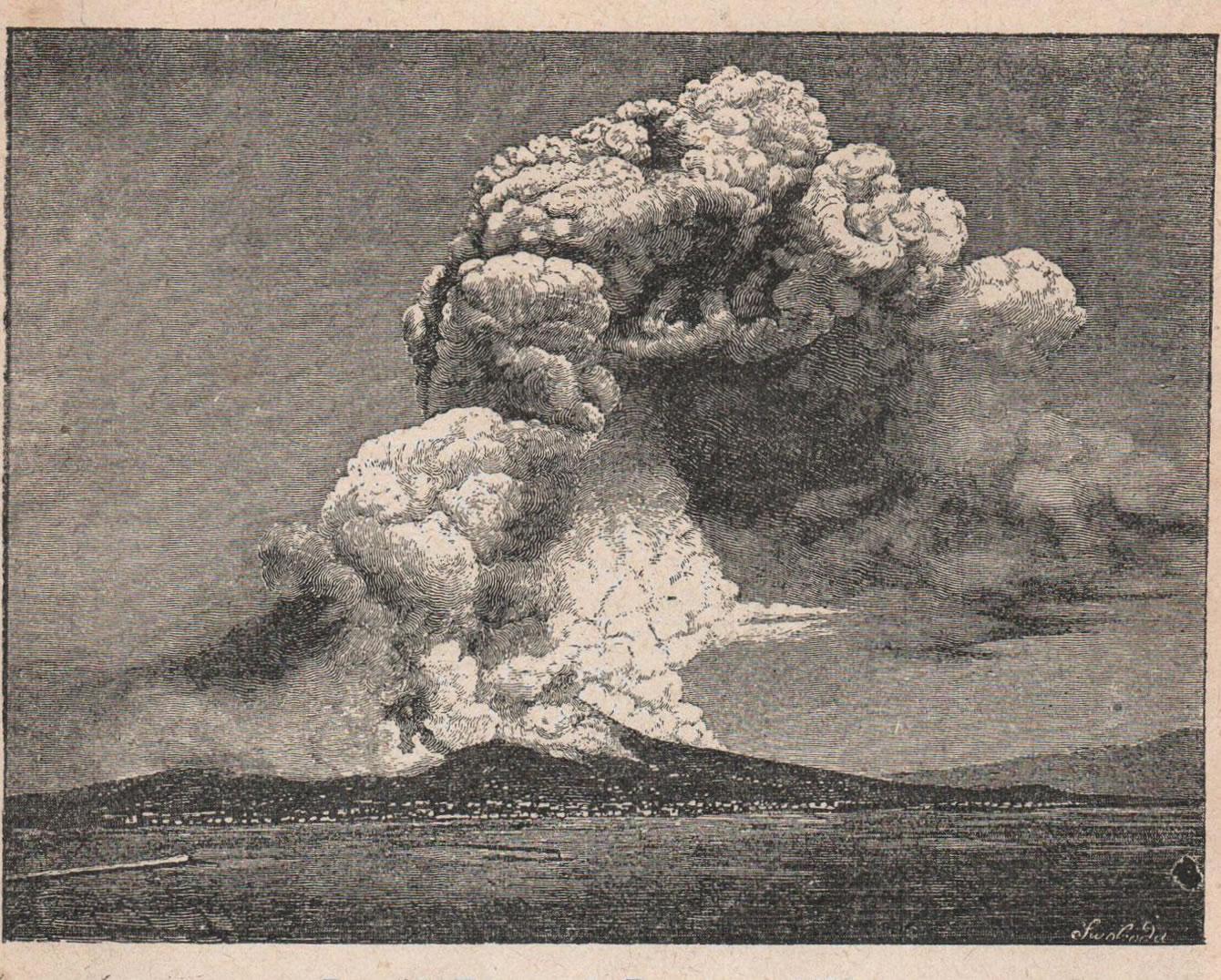 Рис. 65. Изверженіе Везувія въ 1872 году.