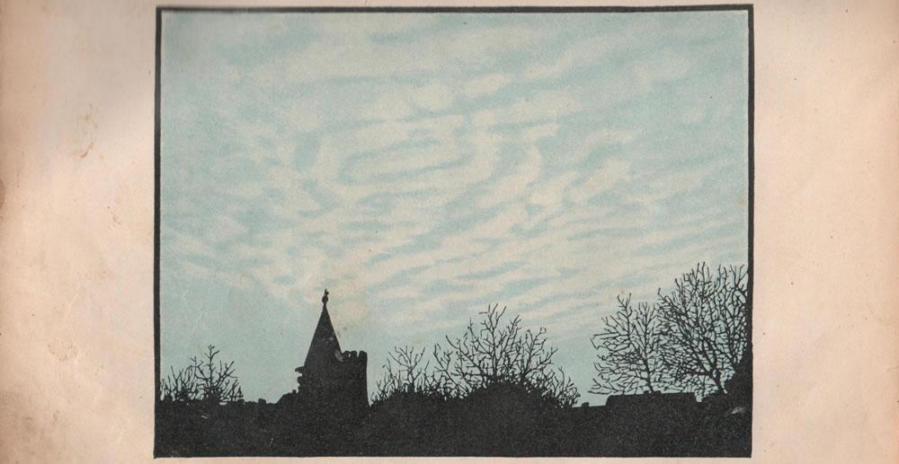 Рис. 4. Верхне-кучевыя облака.