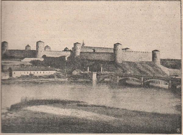 Рис. 127. Ивангородъ противъ Нарвы, старинная крѣпость, основанная въ 1422 году для защиты края отъ ливонцевъ.