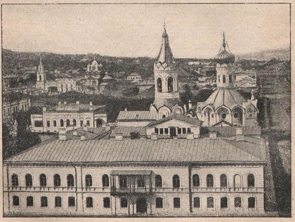 Рис. 135. Городъ Симбирскъ на правомъ берегу Волги на высотѣ 80 саженъ